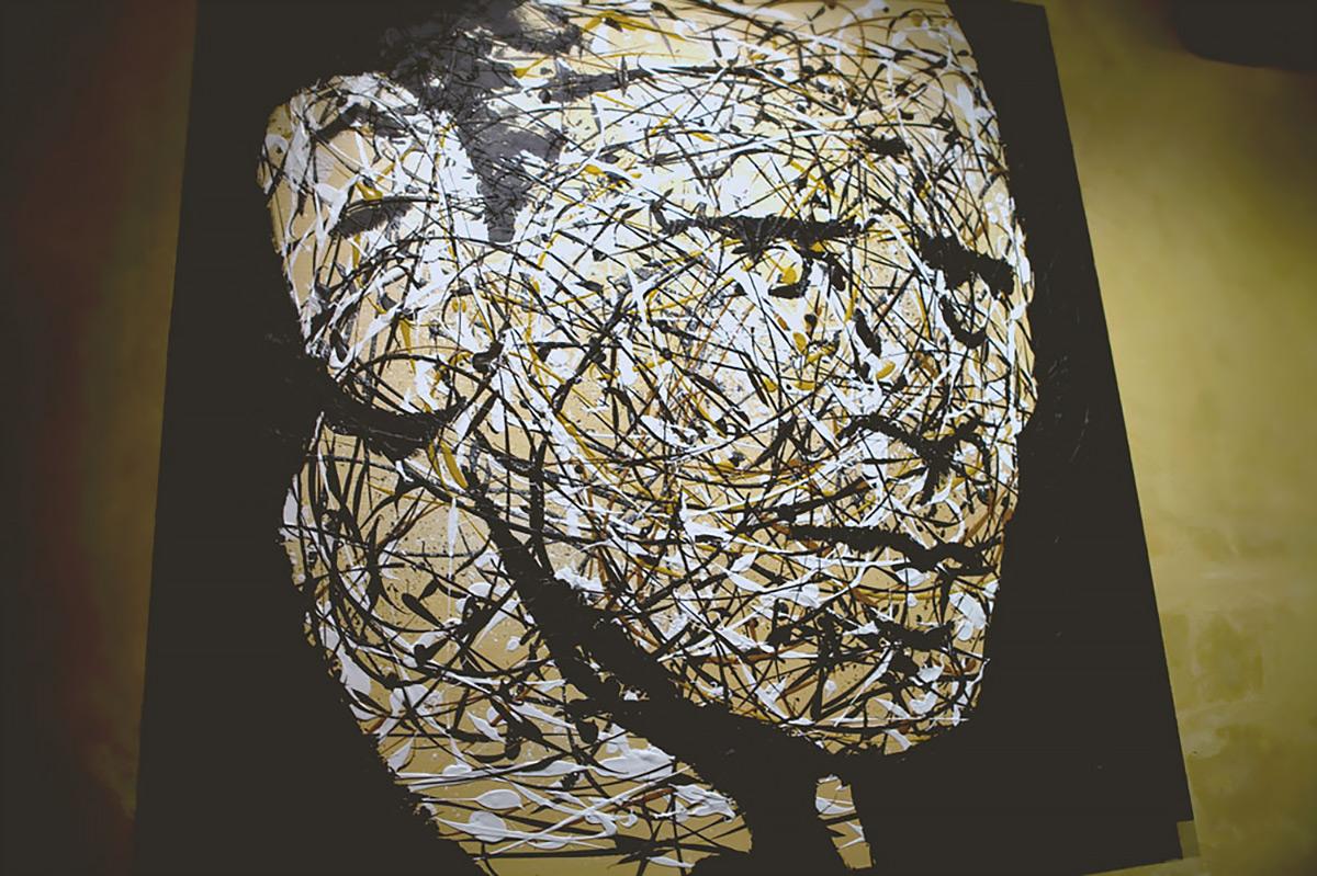 Jackson Pollock portrait painting Jono Schaferkotter artist