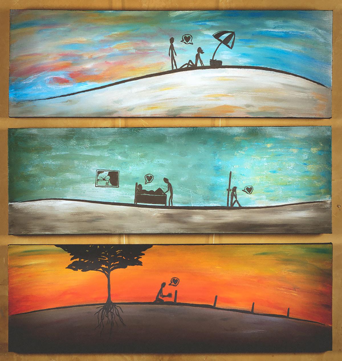 Same Heart painting gallery Jono Schaferkotter artist