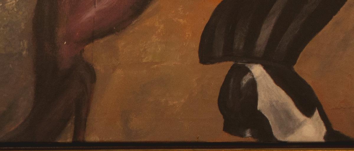Tango painting shoes Jono Schaferkotter artist